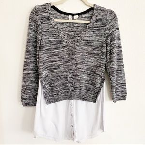 Anthropologie Moth Adeline Layered Sweater Small